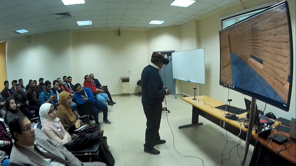 Conducting our first VR lecture in Architectural Engineering at the Future University in Egypt (FUE)