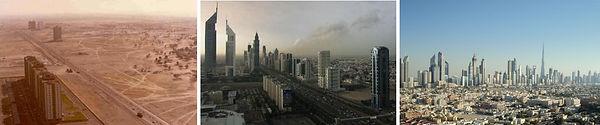 Dubai, Arap Yarımadası'ndaki yedi tane Birleşik Arap Emirlikleri emirliğinden biridir. Bazen kendi emirliğinden Dubai Kenti olarak ayırt edilir.  1960'larda yalnızca balıkçı kenti olan Dubai, 1990'lar sonrası uygulanan politikalar sonucunda ve Hong Kong'un Çin'e devredilmesi ile bölgenin ticaret başkenti olma yolunda ilerleme süreci başlamıştır.2000'li yıllarda büyük projelerle dünyaya adını duyuran şehir şu an bölgenin en önemli ticaret ve turizm başkentidir. Birleşik Arap Emirlikleri'nin en büyük emirliği ve en lüks, en çağdaş olanıdır. Son 20 yılda bu topraklardan petrol çıkarılmaya başlamasıyla Dubai'nin yapısı değişmeye başladı. Buna karşılık gelirin %8'ini petrol oluşturur, bunda bölgenin finans ve iktisat merkezi olması büyük rol oynar. Gümrüksüz devasa alışveriş merkezleri burayı kısa zamanda alışveriş cenneti yapmıştır.  Şehrin başında Şeyh Muhammed Raşid el Maktum bulunmaktadır. Şeyh Maktum birçok inanılmaz projeye imza atmıştır. Bunlardan en ilgi çekici olanları palmiye şekl