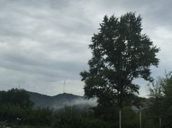 Hills next to the school