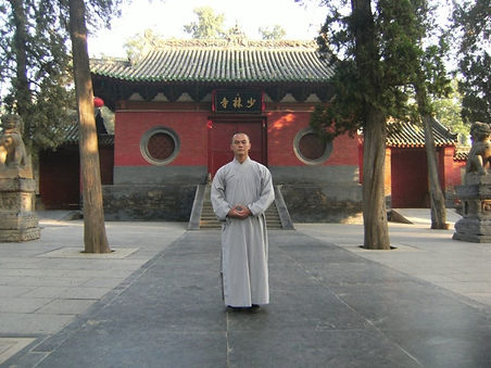 Wang Sifu at the world famous Shaolin Temple