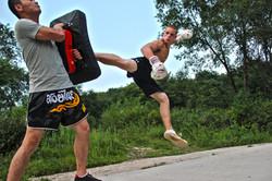 Jumping Turning Side Kick