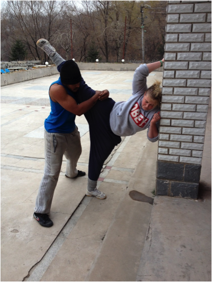 Two-person stretching