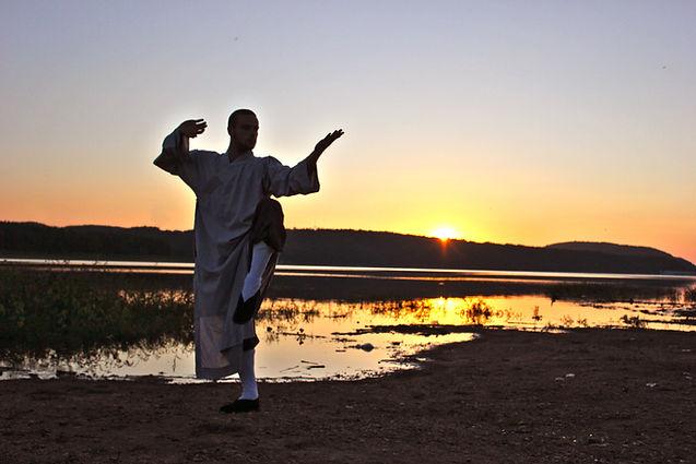 Tai Chi at the lake