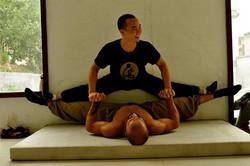 Sifu Stretching Student