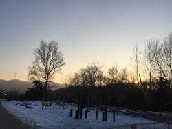 School grounds in winter