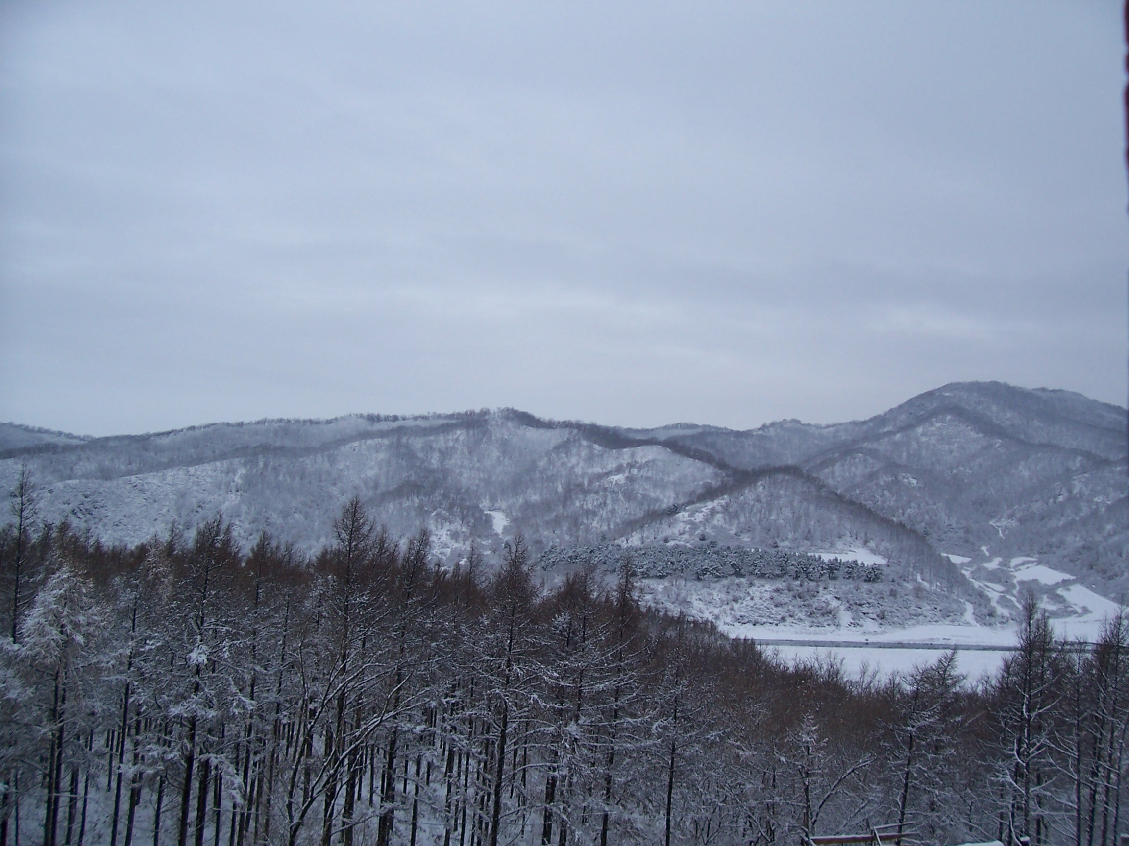 Hills near the school in winter