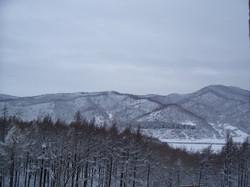 Hills near the school in winter