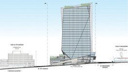 Artistic rendering of the office tower at 1395 West Broadway, Vancouver. (Andrew Cheung Architects/Yuanheng Holdings)