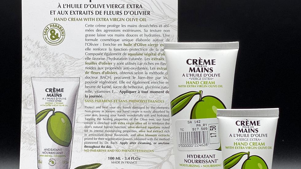 Crème pour les mains à l'huile d'olive
