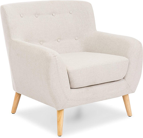 Best Choice Products Mid-Century Modern Tufted Linen Accent Chair - Light Gray