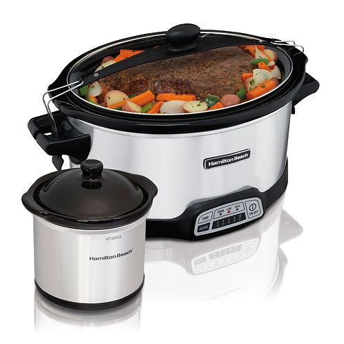 Hamilton Beach Stay or Go® Programmable 7 Qt. Slow Cooker with Party Dipper