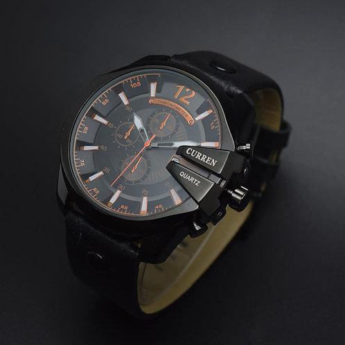 Curren 8176 Relogio Masculino Men's Blue Quartz Military Wristwatch