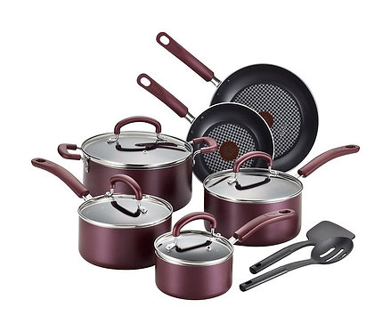T-fal Luxe 12-Piece Non-Stick Cookware Set