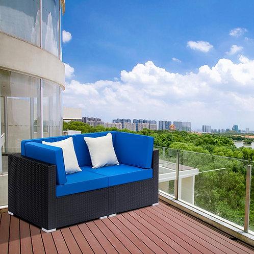 Movamax Modern Outdoor Wicker Rattan Sofa Set w/2Pc Corner Sofa
