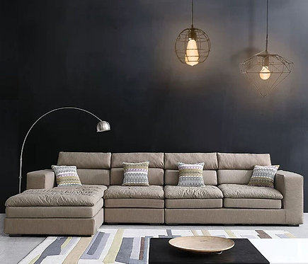 Movamax Modern Design L-Shape Sofa Set