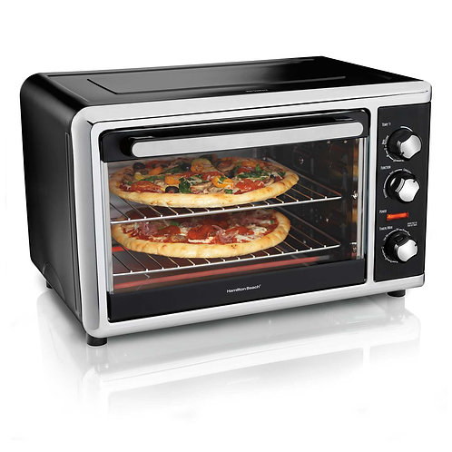 Hamilton Beach Countertop Oven with Convection and Rotisserie (Black)