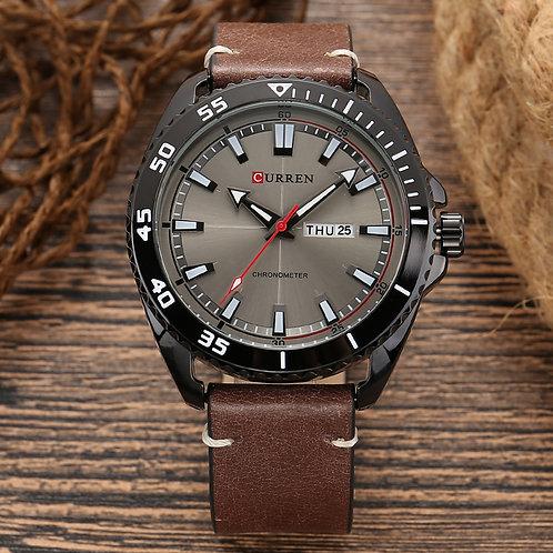 Curren 8272 Men's Casual Week Date Analog Quartz Leather Band Wristwatch