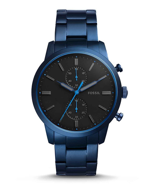 Fossil Townsman Chronograph Blue Stainless Steel Watch