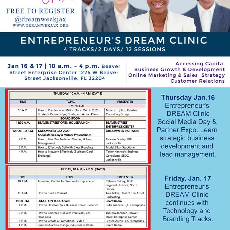 DREAMWEEK JAX Entrepreneur's DREAM Clinic