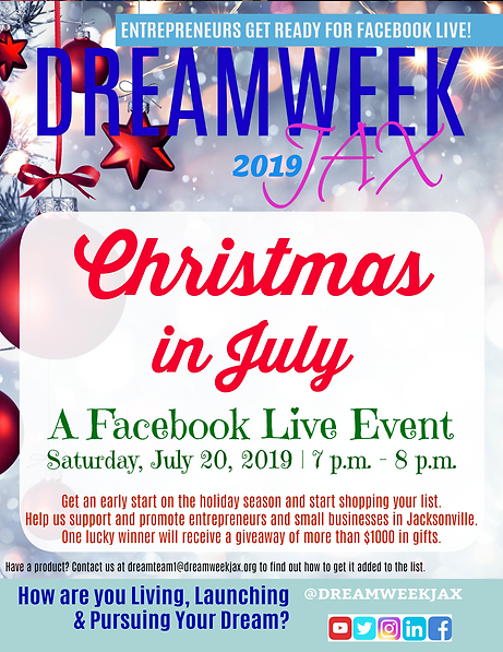 DreamWeek cHRISTMAS IN JULY + 2019 with
