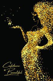 CONFIDECE IS BEAUTIFUL Journal-gold-5.5x