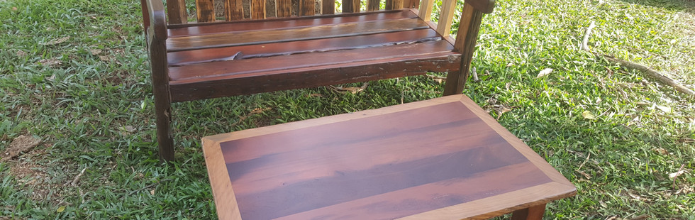 Sleeper Bench and Coffee table