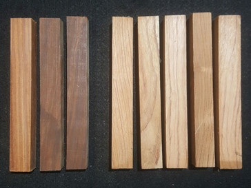 Lot 16 8x Rosewood blanks