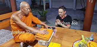 Archan Tham, Teacher of Ajarn Jo, Blessing his Roop Tai