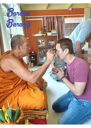Archan Tham giving Ajarn Jo blessings