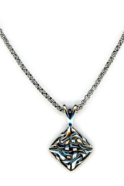 Celtic Sterling Diamond Knot