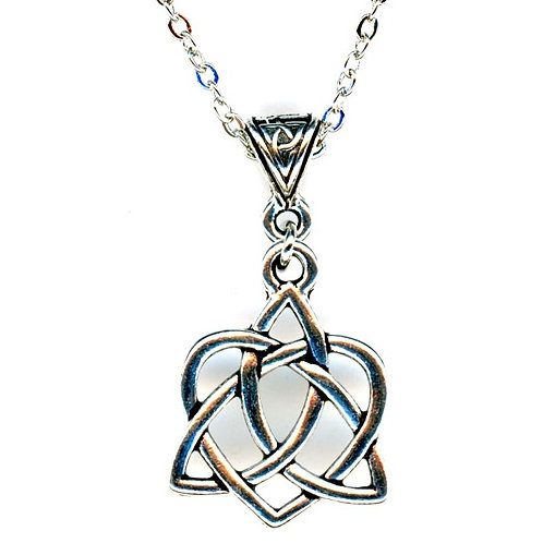 Celtic Triad Heart Necklace