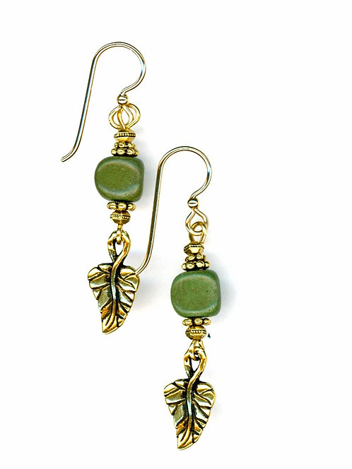 Leaf and Serpentine  Earrings