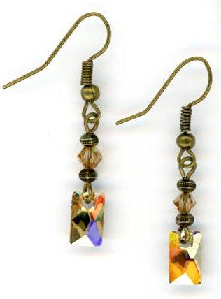 Swarovski Golden Shadow Earrings