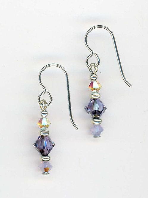 Violet & Violet Opal Swarovski Earrings