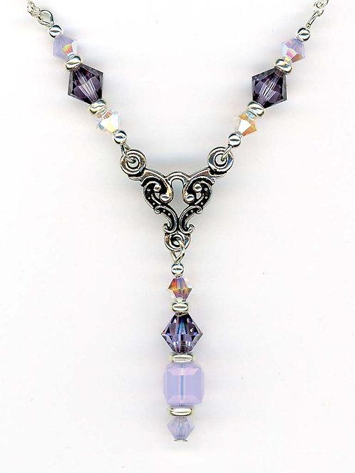 Violet & Violet Opal Swarovski Necklace