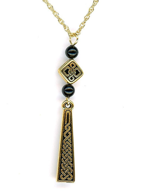 Celtic Gold Braid Necklace