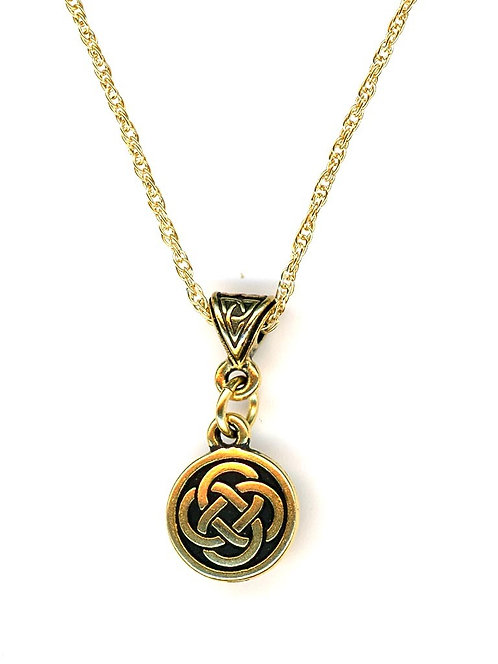 Celtic Gold Closed Knot Necklace