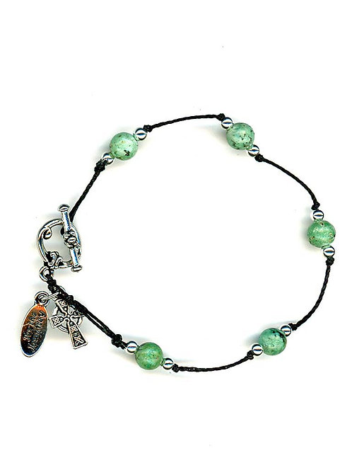 Breath Prayer Bracelet Silver African Turquoise