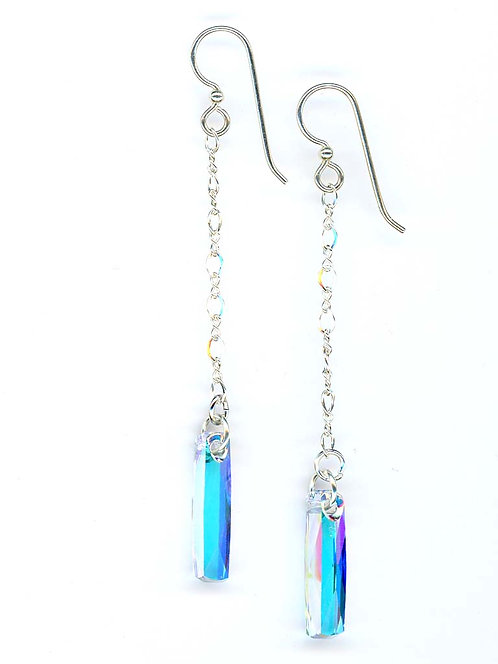 """Karen"", Swarovski Column Drop Earrings"