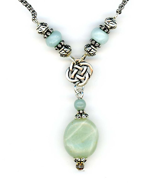 Celtic Small Open Knot, Amazonite Gemstone