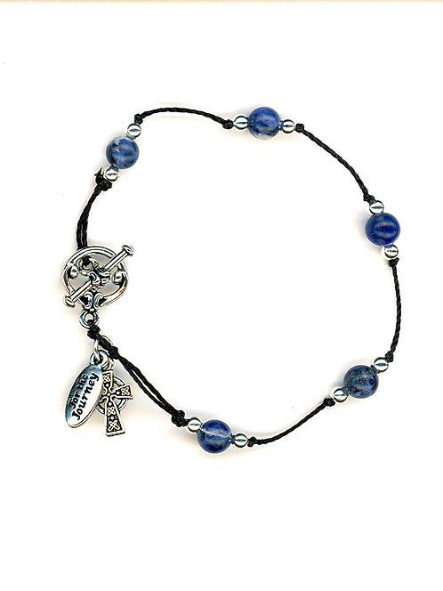 Breath Prayer Bracelet Silver Sodalite