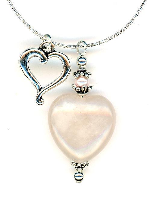 Rose Quartz Stone Heart