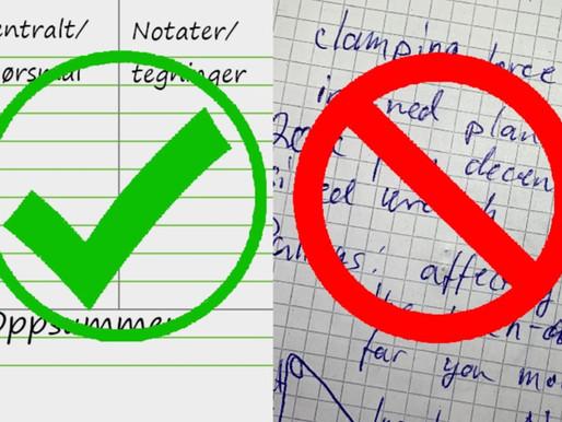Hvordan lese raskere og skrive gode notater