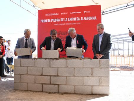 Alfagomma lays corner stone of its plant in Torreon