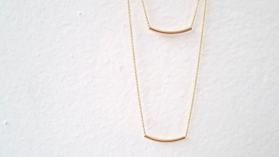 Le collier double MURIELLE