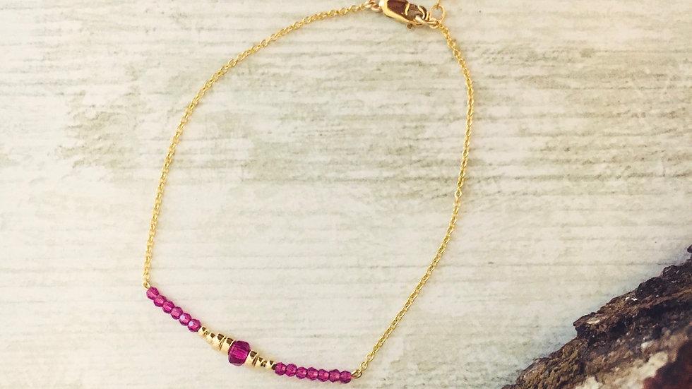 Le bracelet LYDIA octobre rose