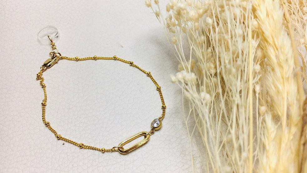 Le bracelet JAHIA maille perlée