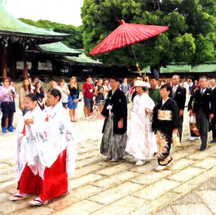 """Wedding Procession"" Meiji Shrine Shibuya, Japan"