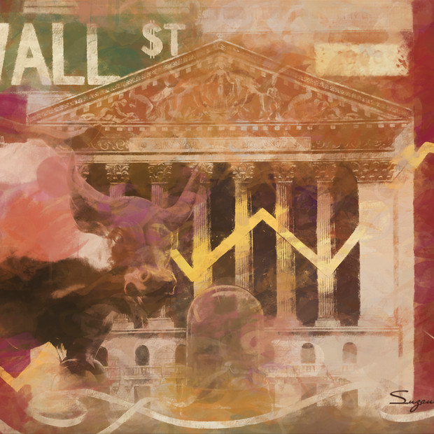 """Wall Street"" Montage Wallstreet NYC"