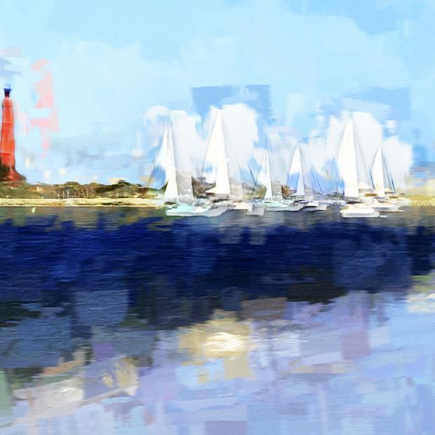 """Sailing Away"" New Smyrna Beach Florida"